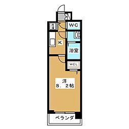 ベラジオ京都一乗寺[5階]の間取り