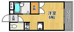 ダイドーメゾン西宮北口13[2階]の間取り