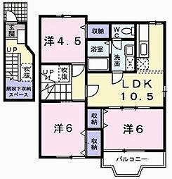 リーヴB[2階]の間取り