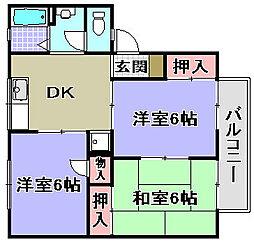 ハイツセジュールA棟[105号室]の間取り