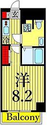 東京メトロ日比谷線 三ノ輪駅 徒歩2分の賃貸マンション 2階1Kの間取り