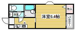 大阪府大阪市北区神山町の賃貸マンションの間取り