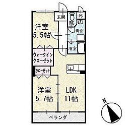 アビタシオンB 2階[202号室]の間取り