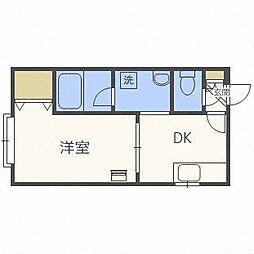 北海道札幌市中央区南八条西13丁目の賃貸アパートの間取り