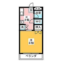 静山荘[2階]の間取り