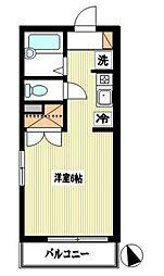 神奈川県川崎市麻生区岡上の賃貸アパートの間取り