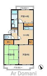 松戸ハイツ[2階]の間取り