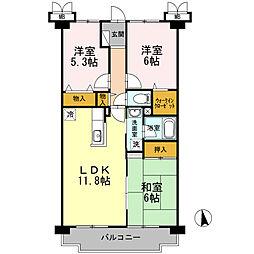 東京都練馬区西大泉1丁目の賃貸マンションの間取り