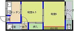 俣野マンション[2階]の間取り