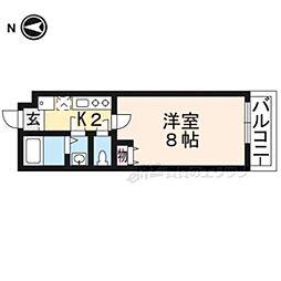仮)フラッティ二本松町 2階1Kの間取り