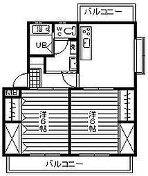 Piso熊野[1階]の間取り