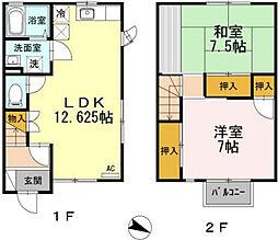[テラスハウス] 広島県広島市東区馬木1丁目 の賃貸【/】の間取り