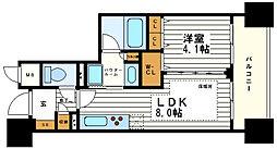 プレミスト堺筋本町ラディーナ[12階]の間取り