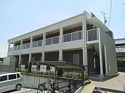 京都府京田辺市三山木柚ノ木の賃貸アパートの外観