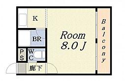 COSMO蓮井[601号室]の間取り