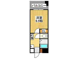 アブレスト桜川[5階]の間取り