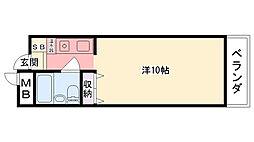 兵庫県西宮市笠屋町の賃貸マンションの間取り
