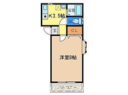 中津浦ハイツ[2階]の間取り