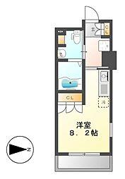 パークアクシス名駅南[6階]の間取り