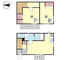 兵庫県神戸市東灘区本山北町2丁目の賃貸アパートの間取り