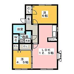 シルキーハウス[2階]の間取り