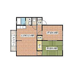 サンビレッジ長澤[2階]の間取り