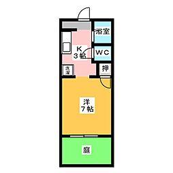 フレグランス神田[1階]の間取り