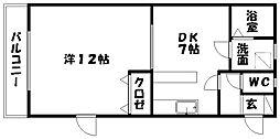 静岡県浜松市南区増楽町の賃貸アパートの間取り