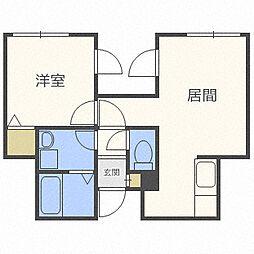 フェニティーモH03[2階]の間取り