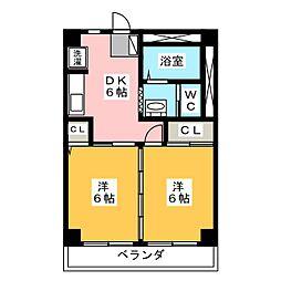 栄ビル[6階]の間取り