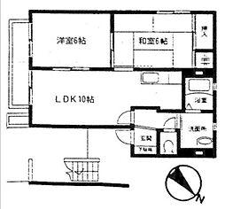 サーン山手住宅[1階]の間取り