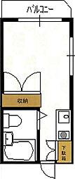 東京都板橋区若木2の賃貸アパートの間取り
