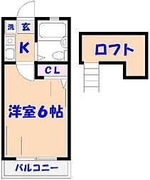 ローズガーデンタナカ(K39)[2階]の間取り