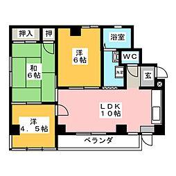 平光ビル[2階]の間取り