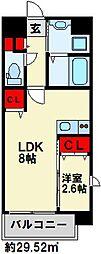 U's Residence 門司港オーシャンテラス 10階1LDKの間取り