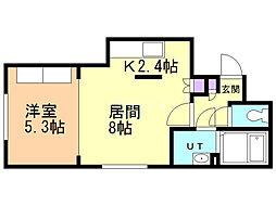 Comfort City 4階1LDKの間取り
