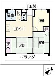 第2大鐘ビル[4階]の間取り