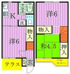 [タウンハウス] 千葉県松戸市西馬橋4丁目 の賃貸【/】の間取り