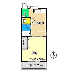 ドリームハウス1[4階]の間取り