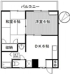 サンガーデンオキナC[203号室号室]の間取り