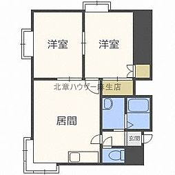 ピアコート花川A[2階]の間取り