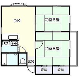 ハイツ山田2[2階]の間取り