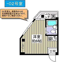 ドエル千島[3階]の間取り