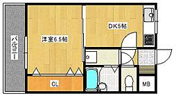 エスポワール六ツ門[805号室号室]の間取り