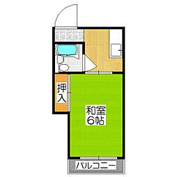 グリシーヌ丹波橋(旧ハイツKOJIMA)[3階]の間取り