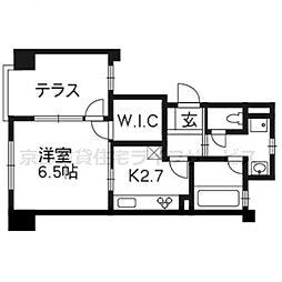 プリオーレ京都烏丸五条 101号室[1階]の間取り