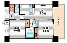 エステムプラザ心斎橋EAST4ブランディア[9階]の間取り