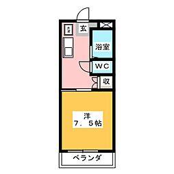 OKマンション[2階]の間取り