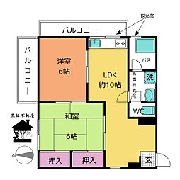 愛知県名古屋市西区幅下1丁目の賃貸マンションの間取り