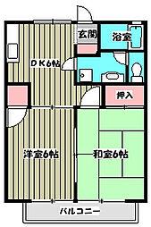 ピークエステート[1階]の間取り